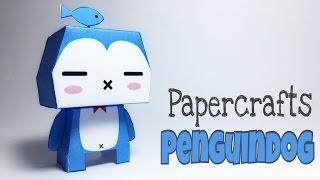 PENGUINDOG PAPER CRAFTS TUTORIAL !