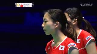 2016 all england finals misaki matsutomo ayaka takahashi vs tang yuanting yu yang