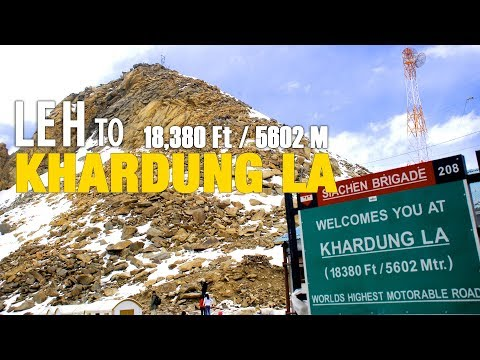 Leh to Khardung La Pass (Highest Motorable Pass) - Ladakh Road Trip 2015 - Full HD