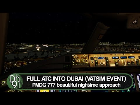 P3DV3 Stream Highlight l Full ATC into Dubai! Vatsim Event l PMDG 777