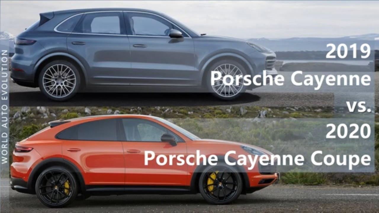 2019 Porsche Cayenne Vs 2020 Porsche Cayenne Coupe Technical Comparison Youtube