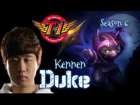 SKT T1 Duke KENNEN Top vs Fiora - Patch 5.24 KR | League of Legends