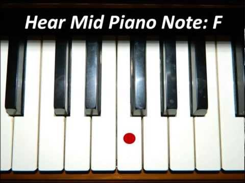 Hear Piano Note - Mid F