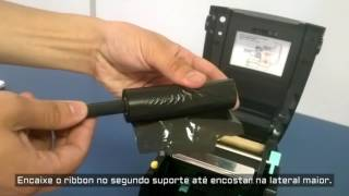 Godex 2 - Impressora de etiqueta: Troca de ribbon