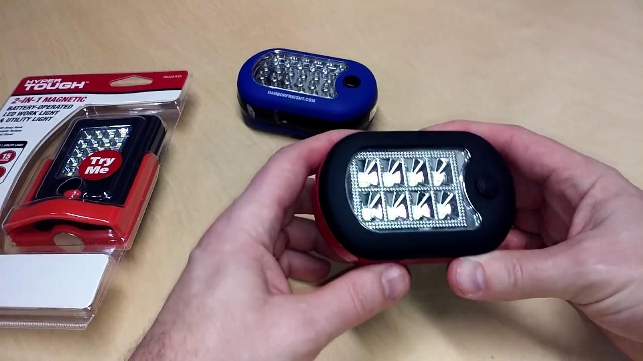 Led Work Utility Light Flashlight Magnetic Swivel Hyper Tough