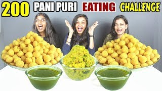 GIRLS 200 PANI PURI / GOLGAPPA EATING CHALLENGE   Pani Puri Competition Food Challenge India(Ep-143)