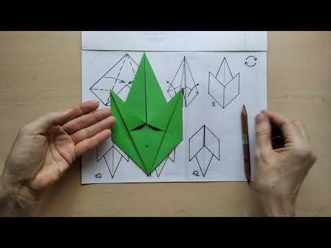 Схема оригами трилистник