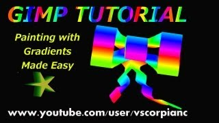 GIMP Tutorial - Beginners, Painting with Gradients by VscorpianC