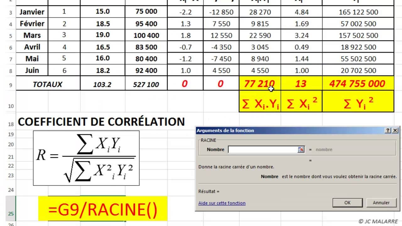 how to find correlation coefficient on excel 2016