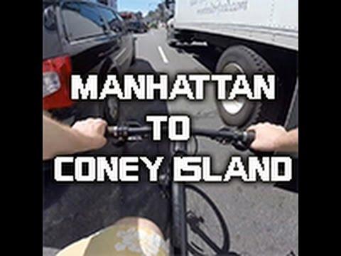Manhattan to Coney Island - GoPro Bike Ride!