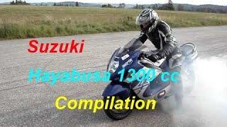 Suzuki Hayabusa 1300 cc - (Brutal Compilation) Loud Exhaust Sound @ Full Power @ Stunt @ Speed