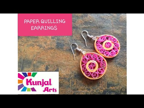 Paper quilling earrings / quilling jewellery/ colourful earrings / diy easy to make simple earrings