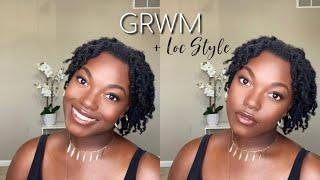 Makeup GRWM & Two Strand Twist On Short Locs | Naomi Onlae #GRWM