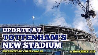 UPDATE AT TOTTENHAM'S NEW STADIUM: Street Lights, Concrete Blocks, Panels and More: 11/11/2018