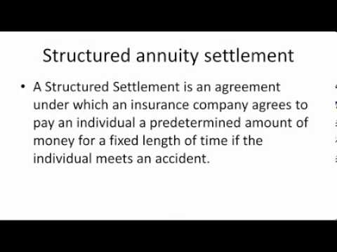 Structured annuity settlement
