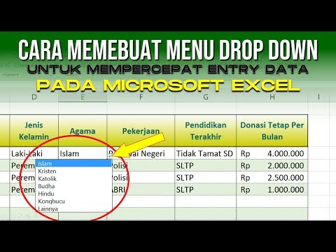 Cara Membuat Menu Drop Down untuk Mempercepat Entry Data di Excel
