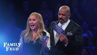 Amy Schumer's AWESOME Fast Money! | Celebrity Family Feud