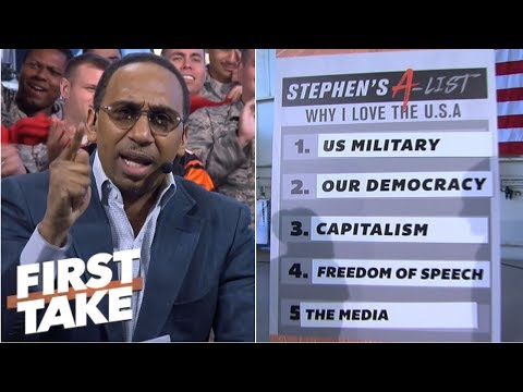 Stephen A.'s top 5 reasons he loves America gets a 'woo' out of Ric Flair | First Take