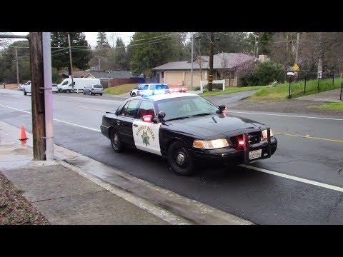 Vehicle Vs. Gas Main - Sacramento Metro Fire District & CHP On Scene & Leaving