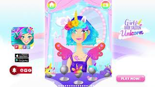 Unicorn Hairstyle & Dress-up 🦄 magic and tons of style