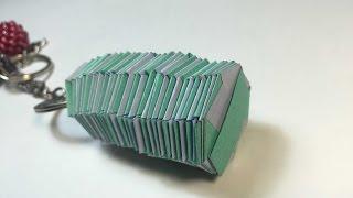 ОРИГАМИ как сделать пружину оригами брелок