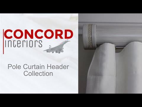 Concord Interiors Pole Curtain Header Collection