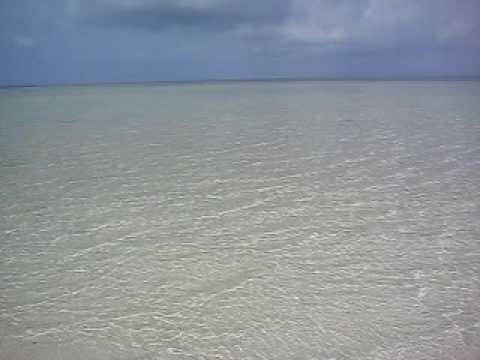 竹富島のコンドイビーチ沖の砂浜