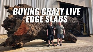 Buying the Nicest Live Edge Slabs in LA