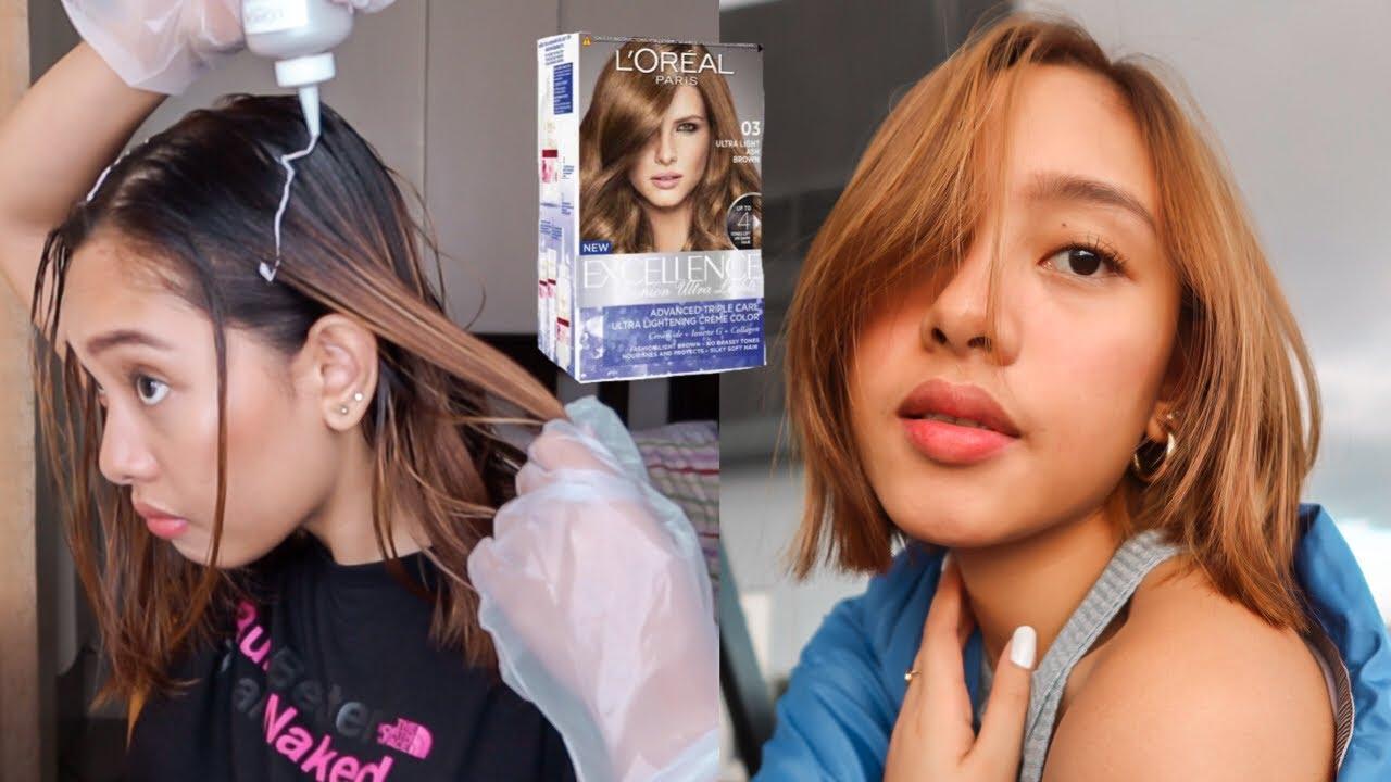 Diy Hair Color Ash Brown For Morena No Bleach Youtube
