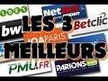 les 3 meilleurs bookmakers français