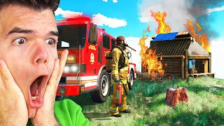 Playing GTA 5 As A FIRE FIGHTER! (GTA 5 Mods)