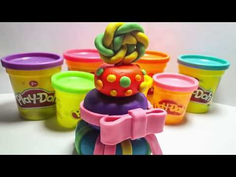 DIY How to make Kinetic Sand Cake Rainbow Heart  Learn Colors and Numbers with Play Doh Ice Cream