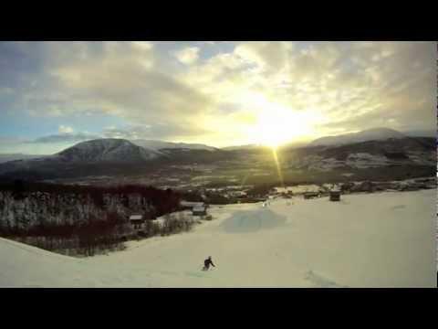 Skiing in Vangslia