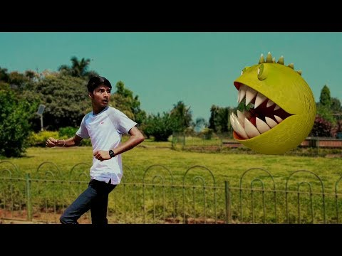 MONSTER PAC-MAN IN REAL LIFE | A Short Vfx Film Test