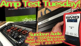 Amp Test Tuesday + Guts - Sundown Audio SAZ 1500D Rated 1500 Watts RMS - SMD AD-1 Amp Dyno