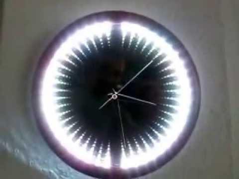 Infinity Mirror Clock Youtube