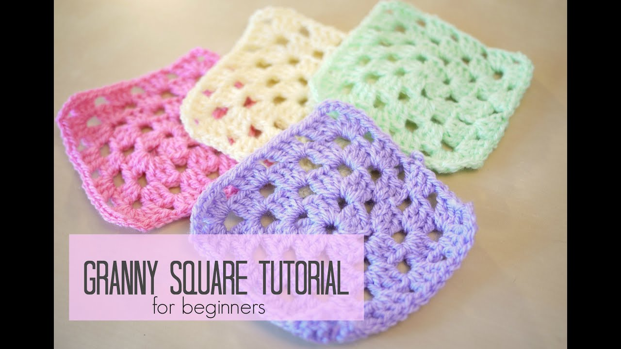 Basic Crochet Pattern For Granny Square : CROCHET: How to crochet a granny square for beginners ...