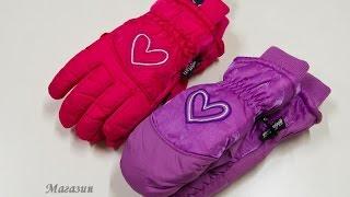 Америка. Детские Краги перчатки лыжные. Обзор 104