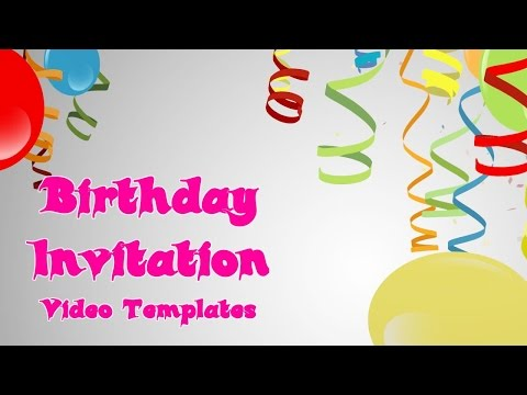 Spectacular Birthday Invitation Vidoe Template For Facebook Emails You