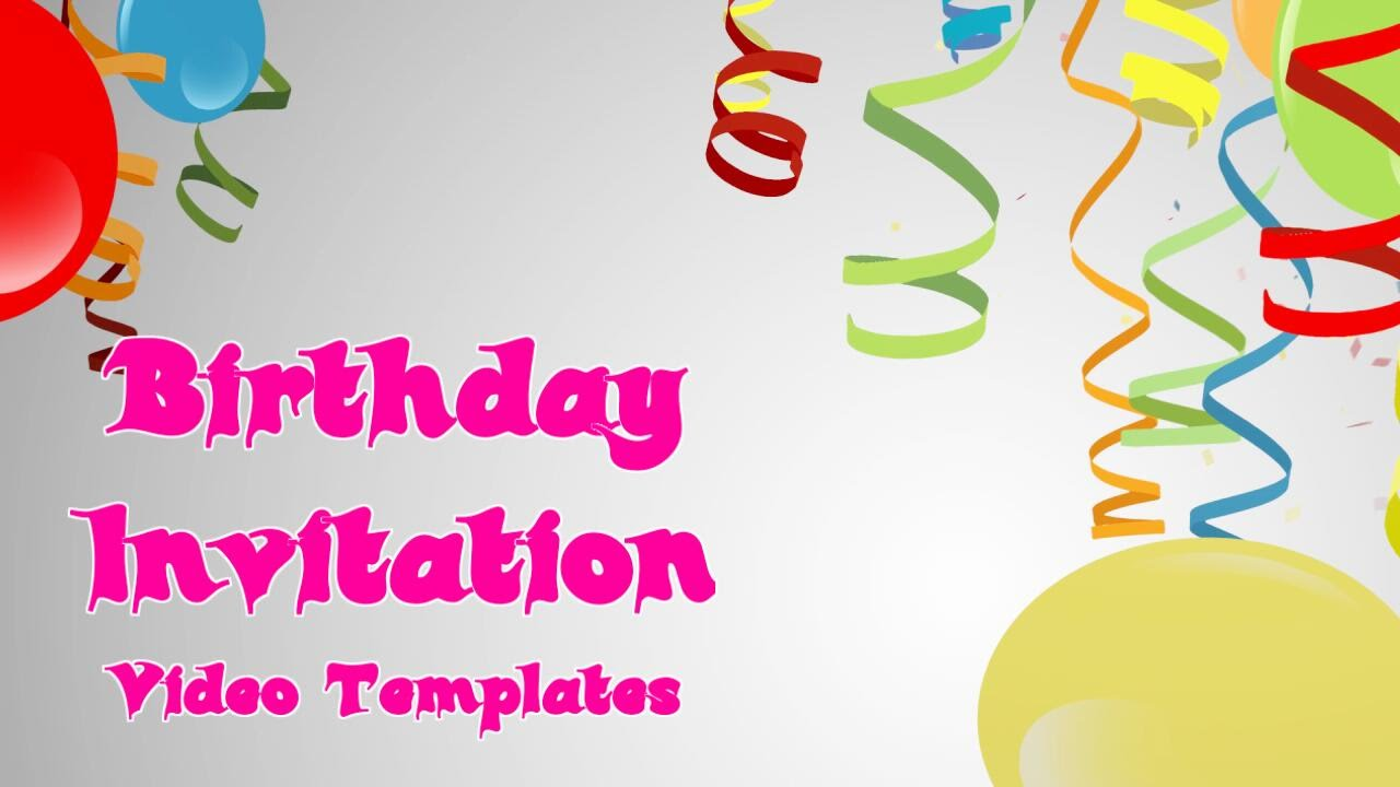 A Spectacular Birthday Invitation Vidoe Template For Facebook ...