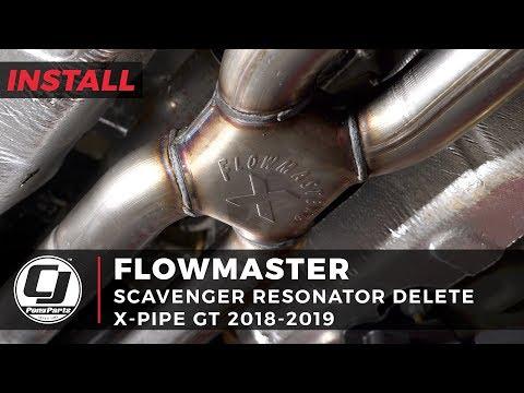 - Mustang GT Install: Flowmaster Scavenger Exhaust Resonator Delete X-Pipe