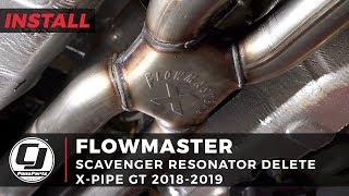 2018-2019 Mustang GT Install: Flowmaster Scavenger Exhaust Resonator Delete X-Pipe