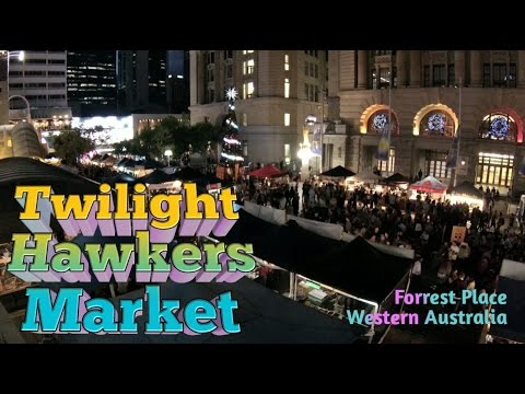 Perth City, WA | London Court - Elizabeth Quay - Twilight Hawkers Market