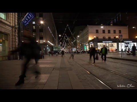 Helsinki During the Christmas season 2015 (4K UHD)