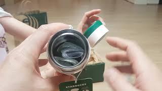 스타벅스 텀블러(보온병),유리컵 언박싱