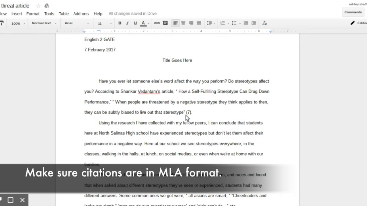 MLA Format - YouTube