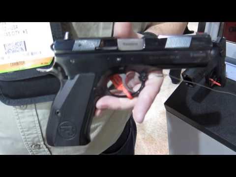 2013 CZ 97 .45ACP pistol at SHOT Show 2013