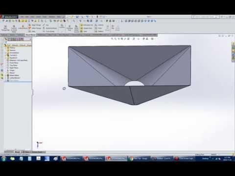 Solidworks Sheet Metal Tutorial Lofted Bends Doovi