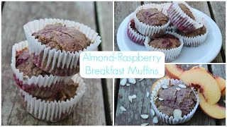HEALTHY Almond Raspberry Breakfast Muffins! Thumbnail