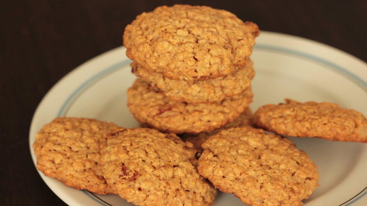 Wholewheat honey oats cookies (Eggless) - YouTube